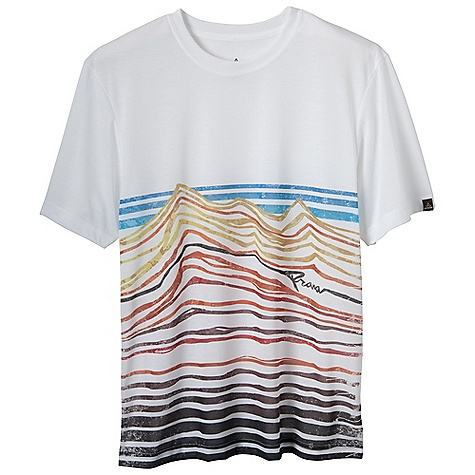 Prana Men's Red Rocks Tee DECENT FEATURES of the Prana Men's Red Rocks Tee Lightweight performance T Quick drying Front sublimated art by our Amabassador Paul Robinson UPF 30+ Performance Fit The SPECS 45 Recycled Polyester / 45 Polyester / 10 - $39.95