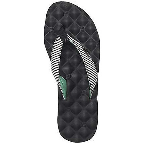 Surf Reef Women's Reef Dreams Print Sandal DECENT FEATURES of the Reef Women's Reef Dreams Print Sandal So comfortable it's like you never left your bed Printed synthetic strap linned with soft padded satin Mattress-inspired quilted PU foam footbed with anatomical arch support Rubber sponge outsole for flexibility PVC free - $35.95