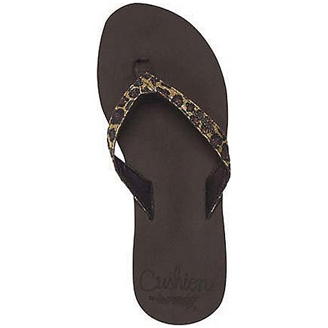 Surf Reef Women's Reef Star Cushion Luxe Sandal DECENT FEATURES of the Reef Women's Reef Star Cushion Luxe Sandal Sparkly strap in exotic prints with soft satin lining Featuring super soft reef cushion EVA with anatomical arch support Rubber sponge outsole for flexibility - $35.95