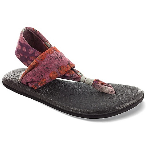 Fitness Sanuk Women's Yoga Sling Sandal DECENT FEATURES of the Sanuk Women's Yoga Sling Sandal Sealed Edge Footbed Made From Real Yoga Mat! Happy U Rubber Sponge Outsole New Lightweight, Two Way Stretch Knit Upper with Sling Comfort Construction Vegan and Vegetarian - $35.95