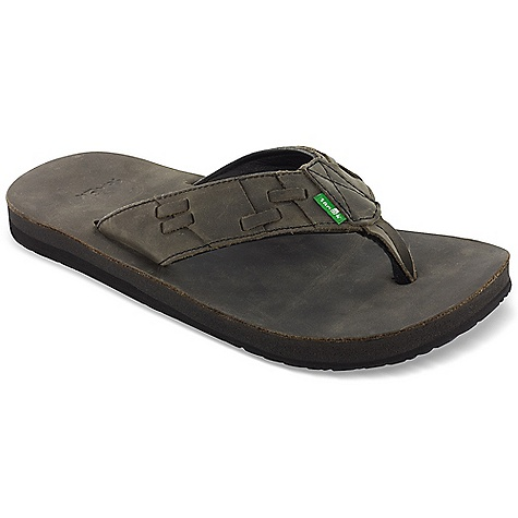 Fitness Free Shipping. Sanuk Men's Colt Sandal DECENT FEATURES of the Sanuk Men's Colt Sandal Footbed Made from Real Yoga Mat with Premium Oiled Leather Cover Happy U Rubber Outsole Premium Oiled Leather Strap Super Soft Pig leather liner - $64.95