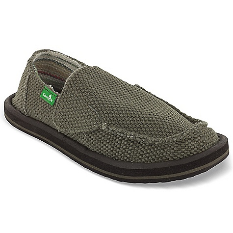 Entertainment Sanuk Youth Vagabond Boys Shoe DECENT FEATURES of the Sanuk Youth Vagabond Boys Shoe Super Soft, High Rebound, Molded EVA Footbed featuring AEGIS Antimicrobial additive Happy U Rubber Sponge Outsole Handmade Canvas Upper and Textile Liner Vegan and Vegetarian - $39.95