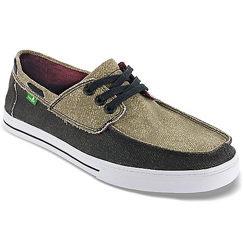 Entertainment Free Shipping. Sanuk Men's Chum Shoe DECENT FEATURES of the Sanuk Men's Chum Shoe New in.Nottavulc Constructionin. Super Soft, High Rebound, Molded EVA Footbed featuring AEGIS Antimicrobial additive Happy U Rubber Outsole Two Tone Distressed Canvas Boat Shoe Upper Featuring Slip-On Convenience Laces Canvas Liner with Printed Ocean Wave Detail Vegan and Vegetarian - $64.95