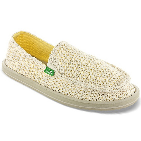 Entertainment Free Shipping. Sanuk Women's Flutter Shoe DECENT FEATURES of the Sanuk Women's Flutter Shoe Super Soft, High Rebound, Molded EVA Footbed featuring AEGIS Antimicrobial additive Happy U Rubber Sponge Outsole Handmade in.Knottedin. Woven Textile Upper and Canvas Liner Vegan and Vegetarian - $59.95