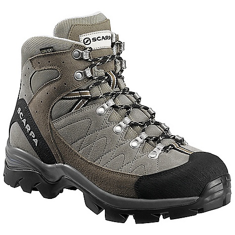 Camp and Hike Free Shipping. Scarpa Men's Kailash GTX Boot DECENT FEATURES of the Scarpa Men's Kailash GTX Boot Bi-directional ankle flex Extended Comfort Gore-Tex offers protection with maximum breathability Super shock-absorbing Vibram Hi-Trail Lite sole Toe rand for critical protection The SPECS Upper: Suede Lining: Gore-Tex - Performance Comfort Insole: Comfort-Flex Midsole: PU/EVA Sole: Vibram Hi-Trail Lite Last: BX Sizes: 38 - 47, 48 (half sizes) Weight: 630g; 1lbs 6oz - $208.95