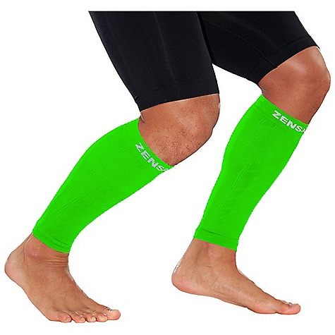 Fitness Zensah Compression Leg Sleeve DECENT FEATURES of the Zensah Compression Leg Sleeve Each pair of compression leg sleeves to support increased blood circulation for improved sport performance and recovery Gradient compression: wide ribbing in the front for shin support and tight ribbing in the back for calf support Zensah fabric with silver ions regulates skin temperature and fights bacteria Breathable, moisture wicking, seamless construction for comfort Ideal for runners, cyclists, triathletes, and anyone who would like to increase the blood flow in their lower legs Seamless Anti-microbial - $39.95