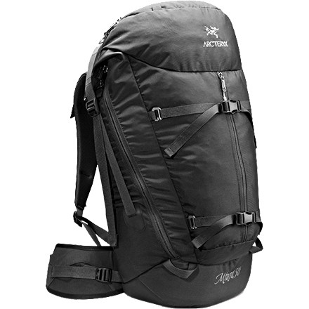 Climbing The Arc'teryx Miura 50 Backpack carries all you need for a day of sending and features internal racking loops to help you keep your kit organized. The entire front side of the Miura 50 Backpack zips open to provide quick-and-easy access to your draws, edging shoes, or that big #5 Camalot. Multiple access points and internal gear loops keep your climbing gear organized so you can rack up quickly and get on your route. - $187.96