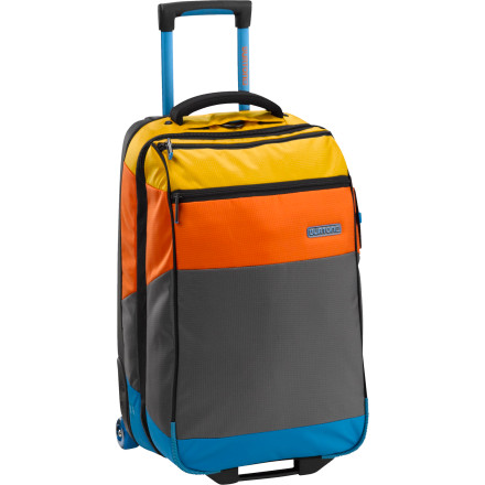 Entertainment The Burton Wheelie Flight Deck Rolling Gear Bag meets all but the most stringent carry-on size restrictions and features a front compartment to keep your laptop or tablet handy as you hop flight to flight. - $219.95