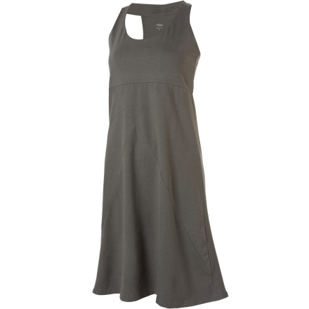 Entertainment Slip into the NAU Camber dress when you want a simple, stylish look that is great for formal evenings out or for important dates. The soft organic cotton and Tencel blend makes for an elegant drape and a subtle sense of movement while the built-in shelf bra lessens the amount of straps you have to deal with. The T-back shows off your shoulders and gives this dress a touch of sass. - $89.95