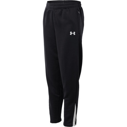Fitness An active dude isn't complete without a non-cotton addition to his athletic attire. The stretchy Under Armour Boys' Classic Warm-Up Pant is just what he needs for the ride to the game, the on-field warm-up, the locker room pep-talk, and the post-game breakdown. And it's a winner when it comes to relaxing and reflecting on the weekend. - $44.95