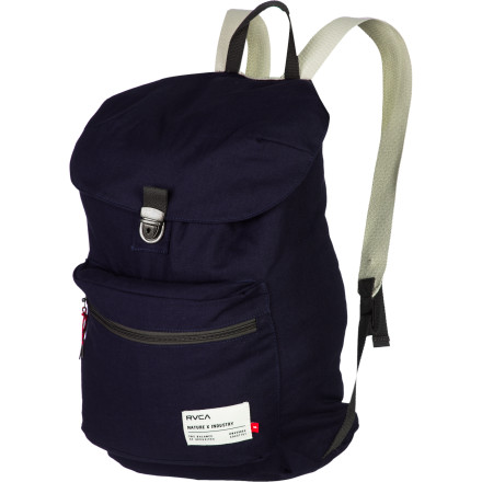 Camp and Hike Take it back to the basics with the RVCA Tiller Backpack. The spacious main compartment holds everything you need for a day of classes or a short hike to your favorite spot in the woods, and the flap closure top makes it easy to access your stuff. - $43.95