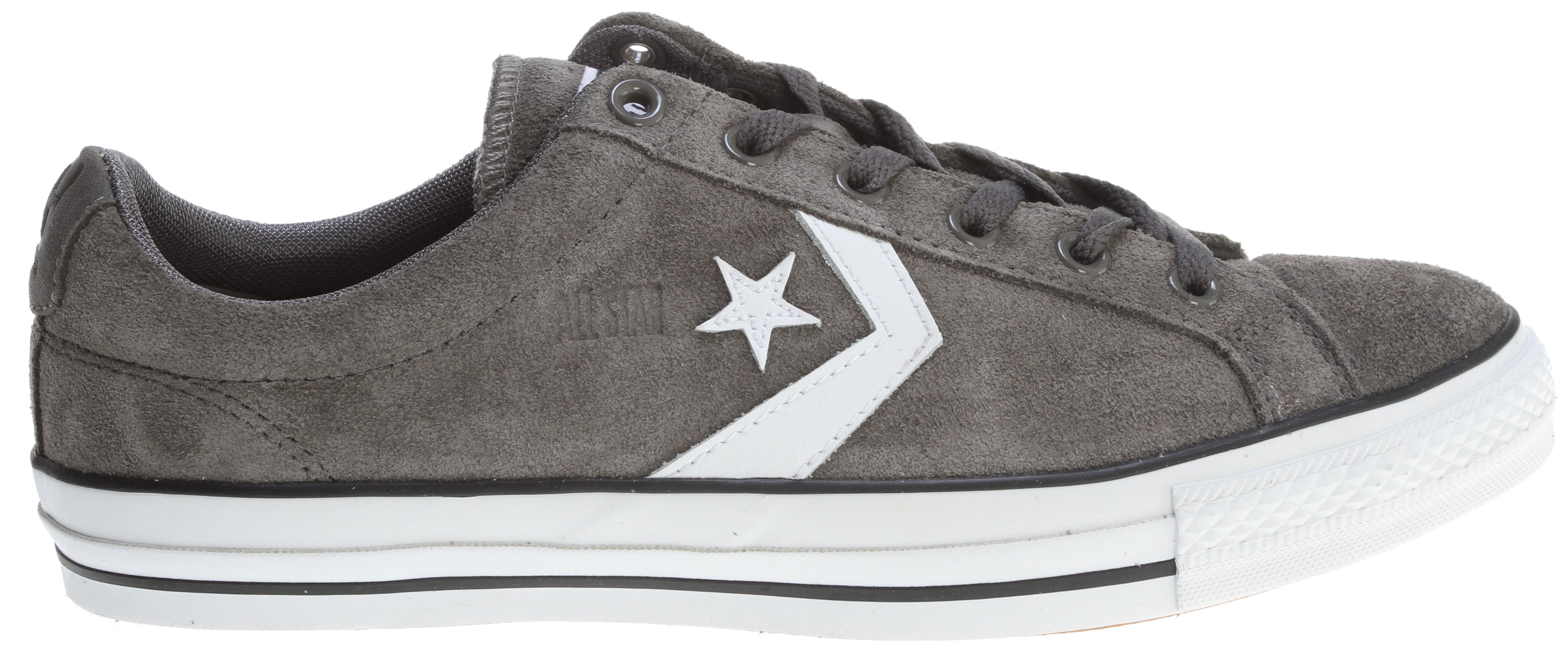 Skateboard Key Features of the Converse Star Player LS Skate Shoes: Inspired by Kenny Anderson Suede upper with leather Converse logos on sides Converse All Star tag on tongue Converse logo on back of heel Lightly padded tongue and collar Padded insole Rubber outsole. - $45.95