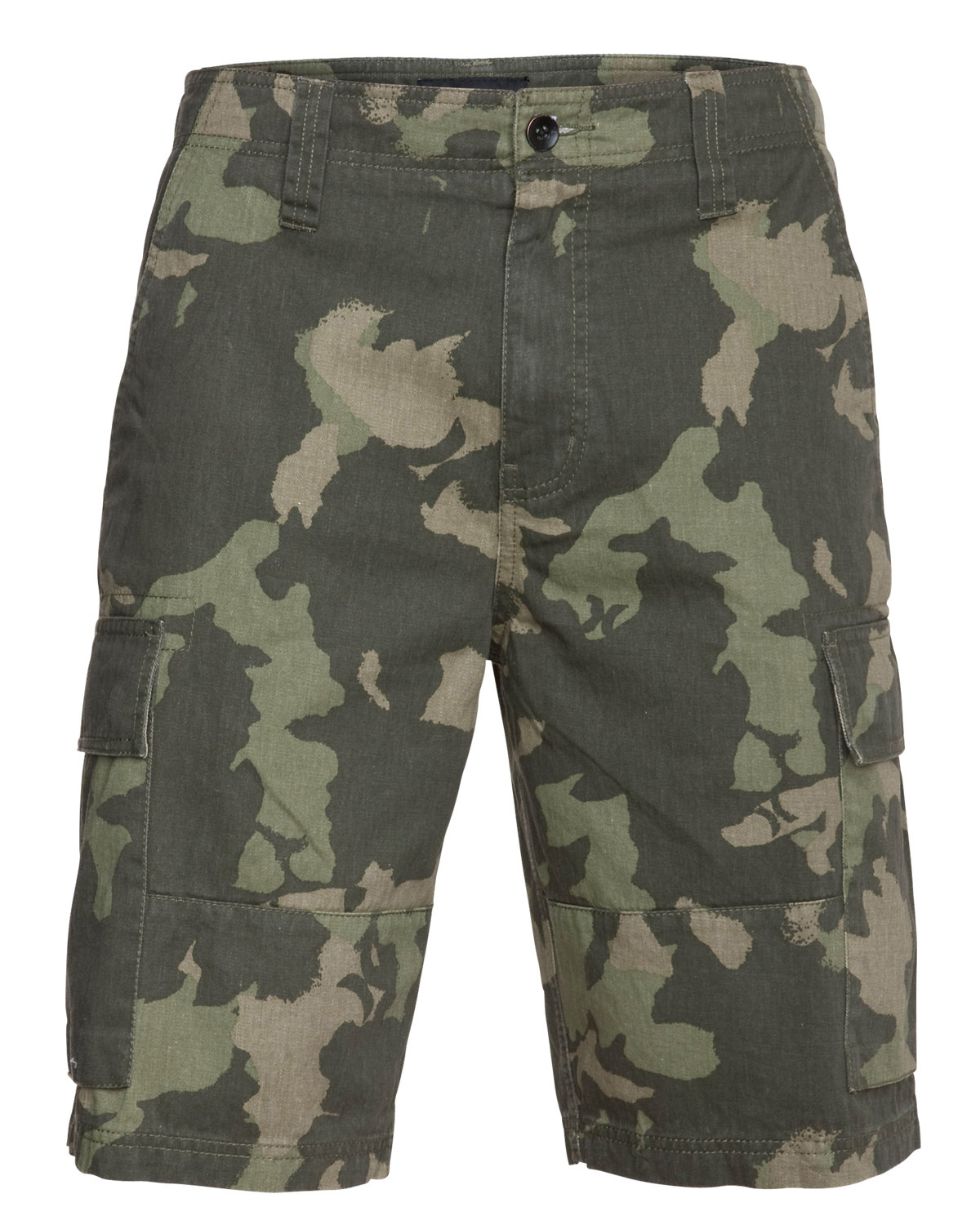 Surf Key Features of the Hurley Commander Shorts: Cargo fit 100 cotton Cargo pockets with hidden snaps Military details Woven label branding and self applique icon at waistband - $31.95