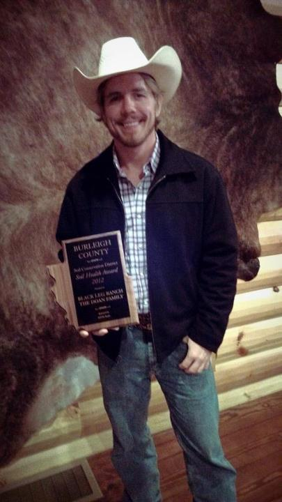Entertainment Jay, Jeremy, and Jerry, accepted the Burleigh County Soil Health Award on behalf of the Black Leg Ranch.