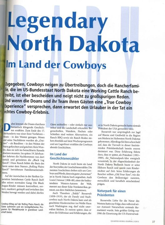 Great article for North Dakota in Germany