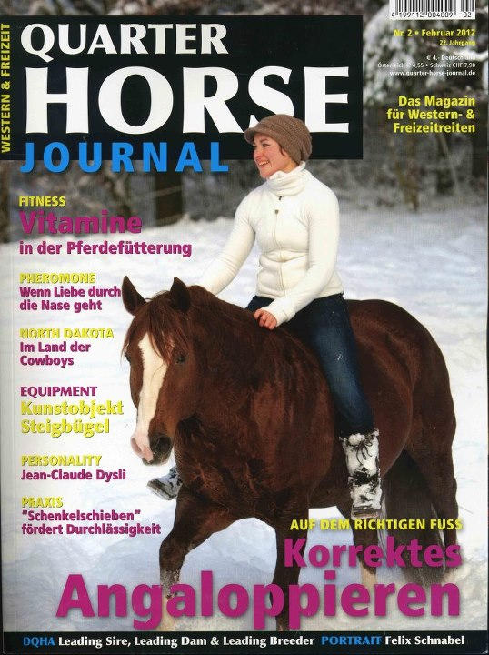 February issue of Quarter Horse Journal