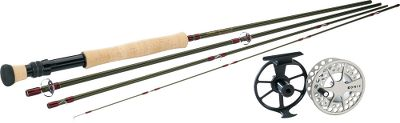 Flyfishing Combine a Cabelas Traditional III fly rod with a Lamson Konic II fly reel to create a high-performance, money-saving setup. Combo includes a rod sock, tube and a spool of Cabelas Prestige Plus fly line.Designed for the serious angler who doesnt want to break the bank, this four-piece Traditional III fly rod incorporates high-end features while maintaining an attractive price point. A moderate-fast action makes it a versatile, all-purpose fly rod. The durable, flexible blend of 42 and 45 million-modulus graphite blank delivers performance typically reserved for top-dollar fly rods. Chromed stainless steel snake guides provide a lifetime of corrosion resistance. Up-locking reel seat with chrome insert; aluminum reel seat on 8-wt. rod.Konic delivers smart design and high performance in these affordable Konic II fly reels. Extremely durable with a smooth contrasting finish, theyre pressure cast, anodized and then coated with 100% solid polyurethane for scratch and corrosion resistance. Fitted with super-smooth, sealed conical drag.Images depict the style of the rod handle and may not fully represent the actual length. Type: Freshwater Fly Combos. Rod Model: 904-4. Reel Model: 1.5. Pieces: 4. Line Weight: 4. Length: 9'. Handle: A. Backing Capacity: 100 yds./12 lb.. Combo Traditional Iii 904. - $254.99