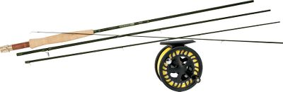 Flyfishing Youve got high performance and fish-fighting versatility on your side when youre armed with a St. Croix Legend Elite fly rod and one of our own Prestige Premier fly reels all at an unbelievable price. Includes Cabelas Prestiege Premier Fly Line (a $59.99 value) and backing. Redesigned St. Croix Legend Elite fly rods represent two series of fast-action rods specifically designed to handle the most technical situations encountered in both fresh- and saltwater. Lighter, slim-profile ferrules and stunning new cosmetics mesh with premium, high-modulus, high-strain SCV graphite blanks loaded with performance-enhancing Advanced Reinforcing Technology (ART) and Integrated Poly Curve (IPC) technology. Legend Elites also feature SCVI graphite in the lower portion of the rod for added power and reduced weight. Nano Silica (NSi) resin developed by 3M results in a blank that is 30% stronger than previous models without any change in the weight, action or power. Flor-grade cork handles are comfortable and durable. Freshwater models feature Fuji Alconite stripper guides with chrome frames. 3-, 4-, 5- and 6-wt. models have hard chrome, single-foot fly guides and REC hard-anodized reel seats with stabilized tiger fiddleback maple inserts. 7-, 8-, 9- and 10-wt. models have hard chrome snake guides and REC hard-anodized aluminum reel seats. Backed by St Croixs Limited Lifetime Warranty. Made in USA. Our Prestige Premier fly reels are our lowest-priced fly reels featuring the reliability of a heat-dispersing carbon disc drag. The large-arbor design ensures faster line retrieve. Cast-aluminum construction delivers excellent strength-to-weight ratio. Pressure-fit spool pops out from rear for easy spool exchange, eliminating the chance of lost or broken parts. Easily converts from right- to left-hand retrieve. Images depict the style of the r Type: Freshwater Fly Combos. - $529.99