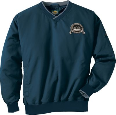 Entertainment Celebrate a half-century of Cabela's quality with this limited-edition, 50th Anniversary Windcrest Pullover. Unlike similar lightweight windproof garments that use a nonbreathable polyurethane backing to keep wind at bay, our customer-favorite Windcrest series relies on an ultratight weave to block cool breezes. This not only stops the wind dead in its tracks, but also keeps you from feeling stuffy or sweaty when active. Teflon -coated, tightly woven, 100% polyester microfiber repels water and stains before they have time to seep through the fabric, and it boasts a high degree of breathability for superior moisture evaporation. Lightweight, butter-soft and comfortable, Windcrest fabric is wet-weather protection you can rely on. DuPont durable water-repellent treatment keeps light rain and moisture from penetrating without affecting breathability. The rib-knit hem, cuffs and collar fit snugly to prevent cold air from creeping in. Side slash pockets are positioned for ample storage and relaxed hand placement. A soft, smooth nylon lining adds yet another facet of comfort to this versatile pullover. Imported.Sizes: S-3XL.Colors: Dark Blue, Onyx. - $12.88