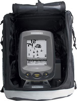 "Motorsports This compact and portable sonar features a 4"", four-level grayscale, 160x128-pixel display screen. Its single-beam sonar offers 800-watt peak-to-peak power output with a maximum depth of 600 feet Equipment is protected by a soft-sided carry case that includes a suction-cup transducer, integral cable storage and a 7-Ah battery and charger. Manufacturers one-year warranty. Made in USA.Dimensions: 6-1/8""H x 4-3/8""W x 3-1/4""D. - $119.88"