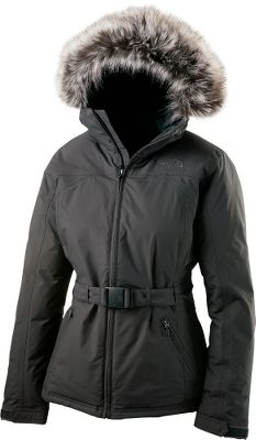 Take on freezing rains and winter winds with the Greenland Jacket. Waterproof, seam sealed and stuffed with warmth-inducing, 550-fill-power goose down. The water-shedding and breathable exterior is made of durable and field-tested HyVent . Its stylish, insulated and adjustable hood is trimmed with a detachable faux-fur ruff. Two hand pockets and one internal pocket. Adjustable cuffs and waistbelt with buckle. Imported.Sizes: S-XL. Colors: TNF Black, Graphite Gray, Brunette Brown (shown). - $249.00