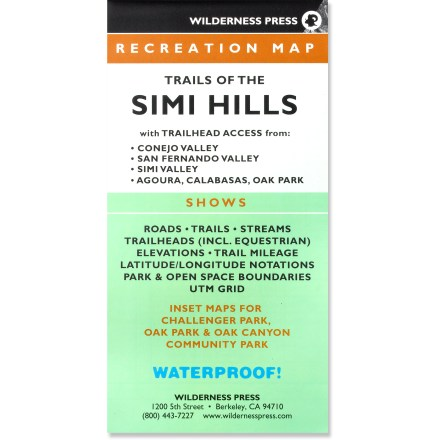 Camp and Hike Explore the trails of the Simi Hills with this map as your guide. - $9.95