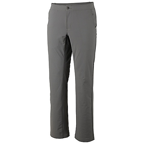 Free Shipping. Mountain Hardwear Men's Topout Pant DECENT FEATURES of the Mountain Hardwear Men's Topout Pant Two front hand pockets, Two rear pockets Side leg pocket with secure zipper Engineered waistband with strategically placed elastic for comfortable fit Crotch gusset for extended mobility DWR finish repels water The SPECS Average Weight: 13 oz / 364 g Inseam: 30, 32, 34in. / 76, 81, 86 cm Body: Chock Ripstop Double Weave (89% nylon, 11% elastane) - $74.95