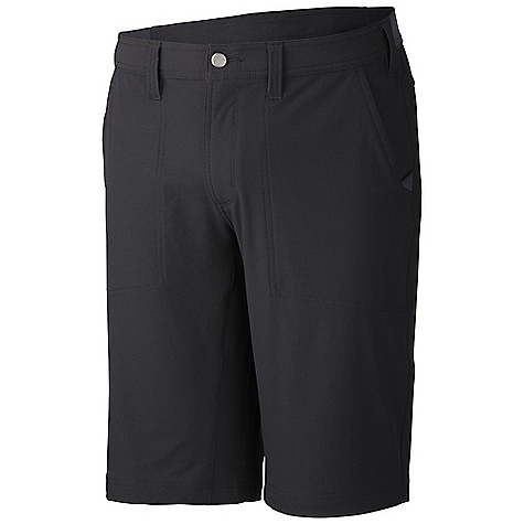 Free Shipping. Mountain Hardwear Men's Topout Short DECENT FEATURES of the Mountain Hardwear Men's Topout Short Two hand pockets, one rear pocket with zipper Engineered waistband with strategically placed elastic for comfortable fit Full-length inseam gusset for mobility DWR finish repels water The SPECS Average Weight: 9 oz / 255 g Inseam: 12in. / 30 cm Body: Chock ripstop double Weave (89% nylon, 11% elastane) - $64.95