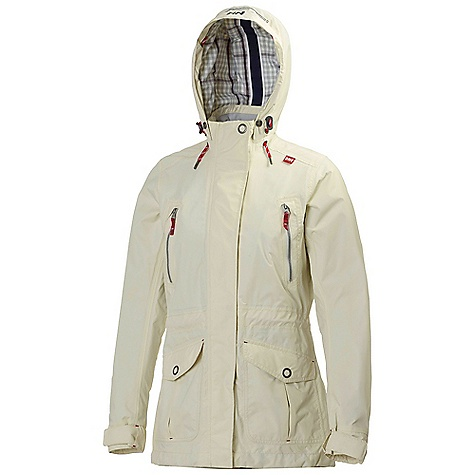Free Shipping. Helly Hansen Women's Waterfront Jacket DECENT FEATURES of the Helly Hansen Women's Waterfront Jacket Helly Tech Protection 2ply construction Warm Core by Prim aloft 100g insulation Front storm flap YKK front zipper YKK Metalux design zippers Packable hood One hand hood adjustments Reflective trims YKK zipped hand pockets Adjustable cuffs Bottom hem Cinch cord Anti-chafe chin guard DWR Treatment Style and weather protection in a warm autumn and winter rainjacket The SPECS Fitting: Regular 100% Polyamide This product can only be shipped within the United States. Please don't hate us. - $249.95
