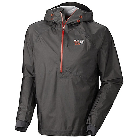 Free Shipping. Mountain Hardwear Men's Blazar Pullover DECENT FEATURES of the Mountain Hardwear Men's Blazar Pullover Deep, watertight zipper opening at neck for easy on/off and thermoregulation Low profile hood, with single-pull adjustment system Internal stash pocket Single hem drawcord for quick fit adjustment Soft, in.Butter Jerseyin. cuffs The SPECS Average Weight: 8 oz / 233 g Center Back Length: 29in. / 74 cm Body: Dry.Q Elite 7 x 10D Ghost Whisperer 3L (100% nylon) - $449.95