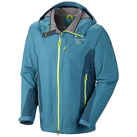 Free Shipping. Mountain Hardwear Men's Sitzmark Jacket DECENT FEATURES of the Mountain Hardwear Men's Sitzmark Jacket Total waterproof protection Stretch back and side panels for increased mobility and comfort Helmet-compatible hood with single-pull adjustment system Cuff tabs and hem drawcords for quick fit adjustments The SPECS Average Weight: 1 lb 1 oz / 468 g Center Back Length: 30in. / 76 cm Body: Dry.Q Elite 40d 3l (100% nylon) Panel: Active Solution 20d 3l Jersey (100% polyester) - $449.95