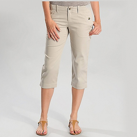 Free Shipping. Lole Women's Promenade Capri DECENT FEATURES of the Lole Women's Promenade Capri Capri with regular waistband 2 hand pockets with button closure 2 welt pockets at back Side slits Mid rise Slim leg Inseam: 21in. / 53.5 cm - $59.95