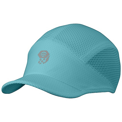 Fitness Mountain Hardwear Women's Carinae Running Cap DECENT FEATURES of the Mountain Hardwear Women's Carinae Running Cap Cool Q Zero provides an immediate and ongoing cooling sensation Lightweight mesh sides for ventilation Wide brim provides full face coverage High-visibility reflective print for running at night The SPECS Average Weight: 2 oz / 55 g Body: running Jacquard (100% polyester) Panel: running Jersey Mesh (100% polyester) - $29.95