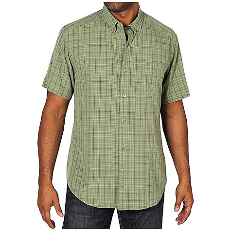 Free Shipping. Ex Officio Men's Pisco Micro Plaid S-S Tee DECENT FEATURES of the Ex Officio Men's Pisco Micro Plaid Short Sleeve Tee Button front placket Wrinkle Resistant: Fiber weave recovers quickly from folding and creasing and releases wrinkles without heat The SPECS Natural fit Polynosic Micro Plaid 77% Modal / 23% Polyester - $64.95