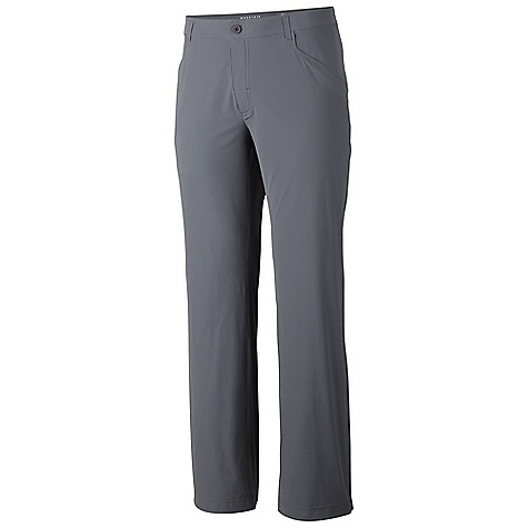 Free Shipping. Mountain Hardwear Men's Rifugio Supreme Pant DECENT FEATURES of the Mountain Hardwear Men's Rifugio Supreme Pant Wick.Q EVAP lined waitband disperses moisture for quick evaporation Low profile welded belt loops and rear pockets Welded side zip pocket DWR finish repels water The SPECS Average Weight: 8 oz / 235 g Inseam: 30, 32, 34in. / 76, 81, 86 cm Body: Chock Ultralite Double Weave Softshell 86% nylon, 14% Elastane - $119.95