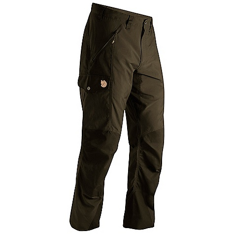 Camp and Hike Free Shipping. Fjallraven Men's Abisko Trousers FEATURES of the Fjallraven Men's Abisko Trousers Trekking trouser in stretch and G-1000 that gives you freedom of movement and durability G-1000 reinforcement at butt, knees and leg ending Extra high at back rise and pre shaped knees and butt 2 hand pockets, 1 big leg pocket, 1 smaller inner mesh pocket and 1 pocket for cellphone or gps Leather Logo - $179.95