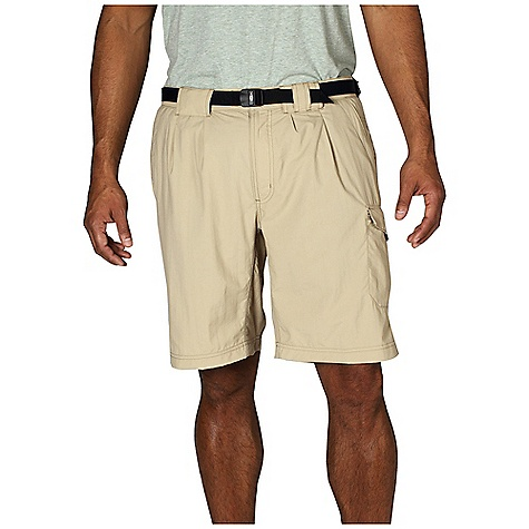 Free Shipping. Ex Officio Men's Amphi Short with Built-In Brief DECENT FEATURES of the Ex Officio Men's Amphi Short with Built-In Brief Security zip leg pocket Drop-in cell pocket Removable belt Partial elastic waist Tricot lined waistband Front pleats Built in brief Lightweight: Lightweight fibers make this weigh less than a similar garment Quick Drying: Fibers release moisture easily so garment dries rapidly Stain Resistant: Resists the penetration of stains, making it easier to blot or launder Water Resistant: Lightly coated with polyurethane to resist the penetration of water Sun Guard 30+: Specialized fabric rated with a UPF (Ultraviolet Protection Factor) absorbs and reflects harmful rays, preventing them from damaging your skin Indestructible Button System: Buttons are secured by nylon loops sewn into the garment for durability The SPECS Relaxed fit Nycott 100% Nylon Inseam: 10in. - $64.95