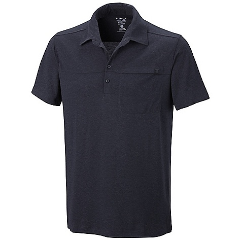 Free Shipping. Mountain Hardwear Men's Frequentor SS Polo Top DECENT FEATURES of the Mountain Hardwear Men's Frequentor Short Sleeve Polo Top Mountain Hardwear Men's Frequentor Short Sleeve Polo Top The SPECS Average Weight: 8 oz / 226 g Center Back: 30in. / 76 cm Body: Karry-on Slub Jersey (92% polyester, 8% wool) - $64.95