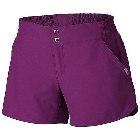 Free Shipping. Mountain Hardwear Women's Petrina Short DECENT FEATURES of the Mountain Hardwear Women's Petrina Short Two front hand pockets, one rear zip pocket Engineered waistband with strategically placed elastic for comfortable fit Crotch gusset Two low-profile snaps at centerfront closure DWR finish repels water The SPECS Average Weight: 5 oz / 138 g Inseam: 5in. / 13 cm Body: Liteclimb Stretch plain Weave (95% nylon, 5% elastane) - $59.95