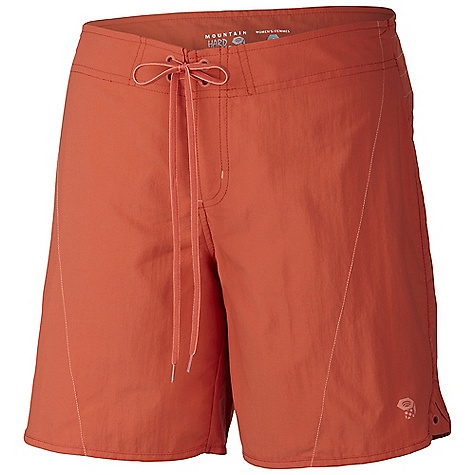 Free Shipping. Mountain Hardwear Women's Ramesa Crossing Short DECENT FEATURES of the Mountain Hardwear Women's Ramesa Crossing Short Low-profile simple tie waist One zipper pocket at side leg with key clip Seams rotated away from pressure points for comfort under a pack DWR finish repels water The SPECS Average Weight: 4 oz / 116 g Inseam: 3, 7in. / 8, 18 cm Body: Canyon twill ii (100% nylon - $49.95