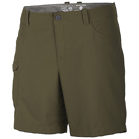 Free Shipping. Mountain Hardwear Women's Ramesa Short V2 DECENT FEATURES of the Mountain Hardwear Women's Ramesa Short V2 Mesh drain panels in pockets for river crossings and spontaneous swims Zippered side pocket, with key clip Knife pocket Full-length inseam gusset for mobility DWR finish repels water The SPECS Average Weight: 5 oz / 149 g Inseam: 5, 7, 9in. / 13, 18, 23 cm Body: Canyon twill ii (100% nylon - $54.95
