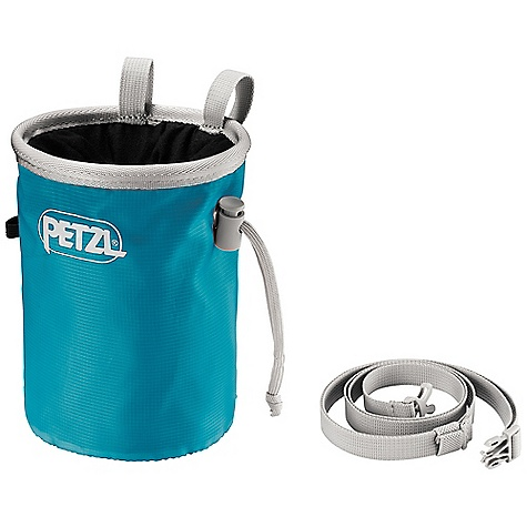 Climbing Petzl Bandi Chalk Bag DECENT FEATURES of the Petzl Bandi Chalk Bag Classic round shape The reinforced rim maintains the shape of the bag Elastic brush holder for cleaning holds Double loops for stability allow easy attachment to a belt or carabiner The wide, round shape and supple fabric allows for easy access to chalk and is comfortable to use Micro-fleece interior liner resists matting and ensures good transfer of chalk to the hand Soft liner flap prevents accidentally losing chalk Cordlock closure system can be easily opened with only one hand Bag includes an adjustable waistbelt Ideal for sport climbing The SPECS Weight: 75 g One-size-fits-all Material(s): polyester, nylon and polypropylene Waistbelt included ALL CLIMBING SALES ARE FINAL. - $19.95