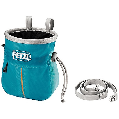 Climbing Petzl Kodapoche Chalk Bag DECENT FEATURES of the Petzl Kodapoche Chalk Bag Zippered pocket is expandable for extra storage capacity due to its gusseted design. Store keys, e+LITE emergency headlamp, topo map, energy bar, or other small provisions for long days on a wall The reinforced rim maintains the shape of the bag Elastic brush holder for cleaning holds Double loops for stability allow easy attachment to a belt or carabiner The wide, round shape and supple fabric allows for easy access to chalk and is comfortable to use Micro-fleece interior liner resists matting and ensures good transfer of chalk to the hand. Soft liner flap prevents accidentally losing chalk Bag comes with adjustable waistbelt Patented the Petzl emergency whistle integrated into the cordlock closure Fleece lining distributes the chalk evenly and an internal gutter helps prevent accidental spills The SPECS One-size-fits-all Weight: 95 g Material(s): Polyester, nylon and polypropylene Comes with waistbelt Case Quantity: 7 ALL CLIMBING SALES ARE FINAL. - $31.95