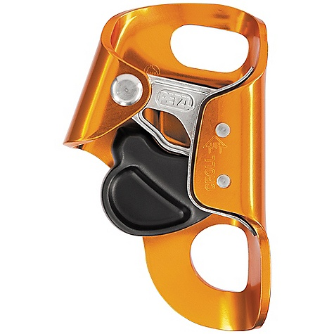 Climbing Features of the Petzl Croll Ascender Used with a BASIC ascender or with an ASCENSION handled ascender for rope ascents Toothed cam with self-cleaning slot optimizes Performance under any conditions (e. g. frozen or dirty ropes) Stainless steel cam has better resistance to corrosion Stainless steel wear plate for improved durability Open the catch by pinching for simple, quick manipulation Lower hole angled to keep the CROLL chest ascender flat Upper hole for attaching a TORSE shoulder strap and keeping the ascender in position Mechanism is totally integrated into the body of the rope clamp to help prevent rubbing Thumb catch can be pinched for easy manipulation when the clamp is in position Angled attachment hole allows the device to lie flat against the chest Used with the SECUR shoulder strap to keep the rope clamp in position - $52.46