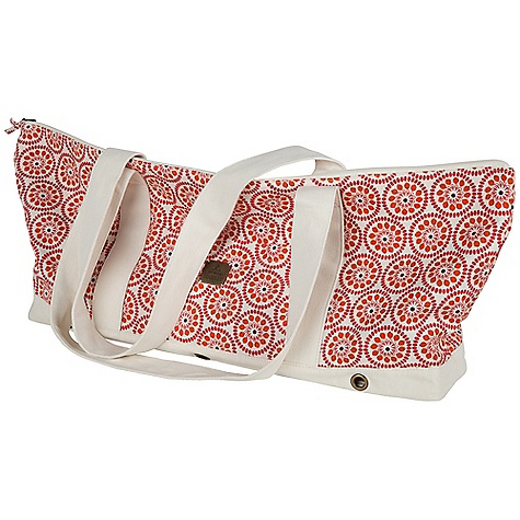 Entertainment Free Shipping. Prana June Yoga Tote DECENT FEATURES of the Prana June Yoga Tote Organic cotton hemp fabrication All-over printed yoga mat bag Zipper pocket at front Contrast bottom panel Fully lined The SPECS 55 Hemp / 45 Organic Cotton The SPECS for Tall Length: 12 1/4in. The SPECS for Wide Length: 27in. - $79.95