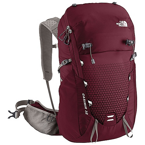 Camp and Hike Free Shipping. The North Face Women's Casimir 32 Pack DECENT FEATURES of The North Face Women's Casimir 32 Pack Proprietary Optifit-F technology provides an unparalleled fit Size-adjustable, gender-specific hipbelt and harness Ultralight nylon pack body Bucket-style panel load opening Unique mesh helmet-carry cover Multiple external pockets for easy gear organization Extra-large hipbelt pockets Reflective hits Women-specific fit The SPECS Volume: 1953 cubic inches / 32 liter Suspension: Optifit-F Frame Sheet: Yes, Perforated Access: Top, Panel H20 Compatible: Yes 70D geo ripstop PU nylon The SPECS for Small / Medium Weight: 2 lbs 1 oz / 936 g Dimension: 21.3 x 11.8 x 6.3in. / 54 x 30 x 16 cm The SPECS for Medium / Large Weight: 2 lbs 2 oz / 964 g Dimension: 22.6 x 11.8 x 6.3in. / 57.5 x 30 x 16 cm This product can only be shipped within the United States. Please don't hate us. - $148.95