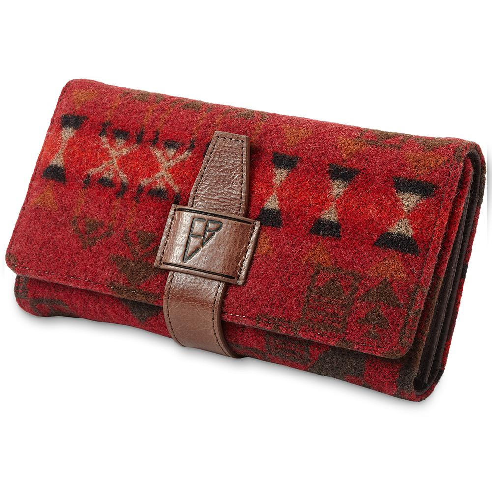 Entertainment Pendleton Wallet - Made exclusively for us by another Northwest icon-Pendleton Woolen Mills. Trifold design snaps closed. Removable checkbook holder. Zip coin compartment; pen loop. Made in USA. - $79.95