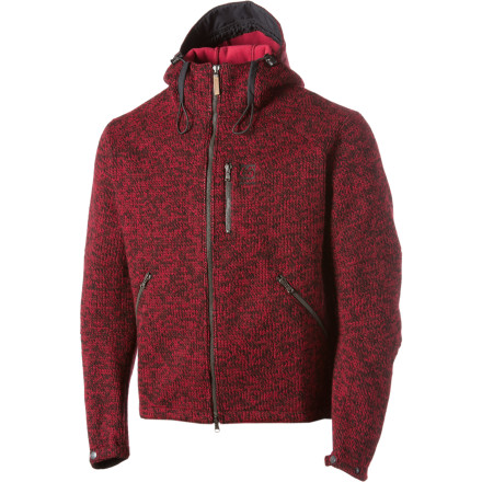 Zip up the 66 North Iceland Men's Vindur Jacket and go downtown to meet your buddies\227the Vindurs wool blend, fleece lining, and windproof membrane combine into a warm but casual-looking piece. If the temp drops unexpectedly, close up the drawcord hem and flip up the hood for increased warmth. Stash your music player in the chest pocket and thread your earbud cord through the inner hole for seamless listening. - $119.98