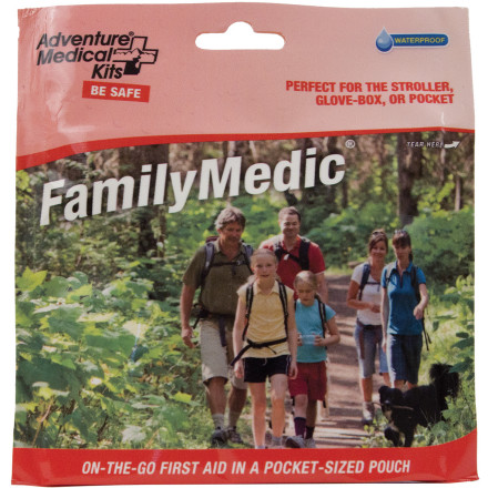 Climbing Be sure to pack the Adventure Medical Family Medic Kit in your hydration pack when you take the family on a fun-day Sunday hike into the plush wilderness. - $9.95