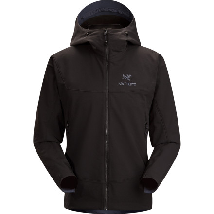 Count on the Arc'teryx Men's Gamma LT Hooded Softshell Jacket for exceptional comfort while you navigate down a steep trail switchback or maneuver up and over a difficult overhang. Burly double-weave fabric breathes well, offers weather resistance, and provides a touch of warmth so you can focus entirely on the task at hand. - $248.95